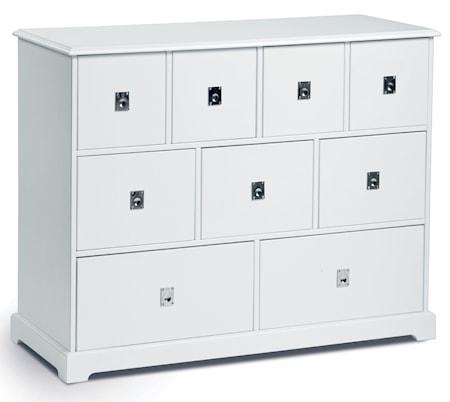Mavis Smögen byrå - vitlack, 9 lådor