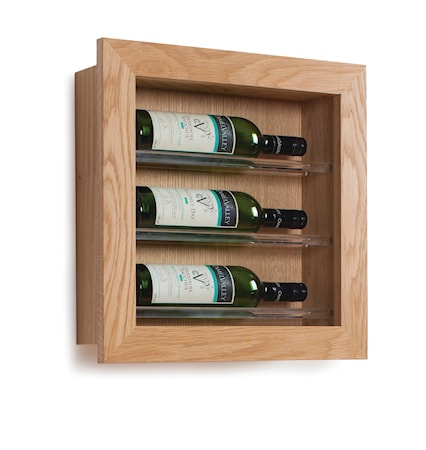 Traditional Wine Racks 3 Pullon Viiniteline Display Seinälle
