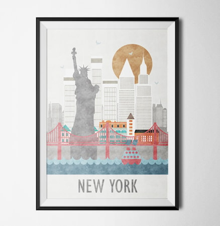 Bilde av Konstgaraget Embrace new york poster