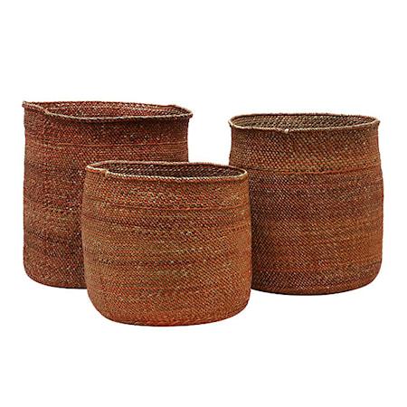 Iringa Korgar Terracotta Set of 3