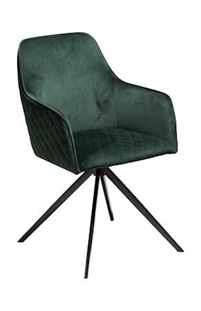 Dan Form Denmark Stol Twine Velour - Emerald Grön