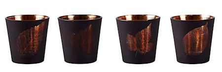 Bilde av KJ Collection Lyslykt med mønster Kobber 7,5 cm
