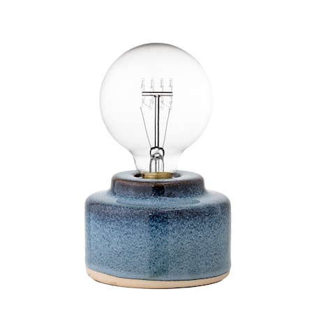 Bloomingville Bordslampa Blå Porcelæn 12x9cm