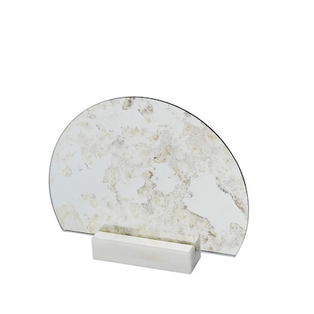 Spegel Half Moon Marmor Antik thumbnail