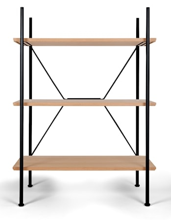 Novel cabinet makers Stock shelving hylla – Låg svart