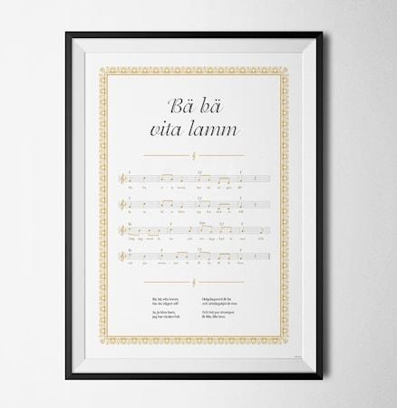 Bilde av Konstgaraget Bä Bä hvita lamm poster