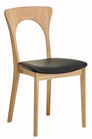 CASØ Furniture Peter stol - Oljad ek, lädersits