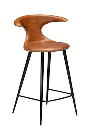 Dan Form Denmark Barstol Flair Läder 90 cm - Ljusbrun