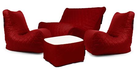 Pusku Pusku Happy loungegrupp - Quilted outside, dark red