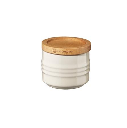 Le Creuset Pieni purkki Puukannella 80 ml Creme