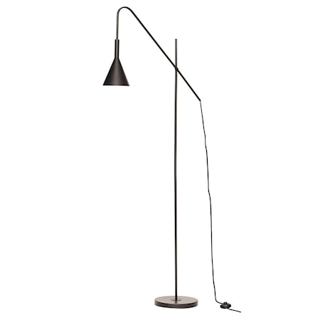Golvlampa Metall Svart 167cm