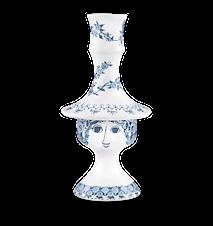 Ljusstake, Rosalinde, dammblå, 17 cm