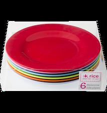 Assiett Melamin 6-pack 20 cm