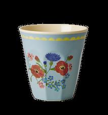 Melaminmugg Tvåtonad Soft Blue Flower Print