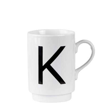 Galzone Krus - K - Porcelæn - Hvid - Sort - D 7,0cm - H 10,0cm - 1 - Stk. thumbnail
