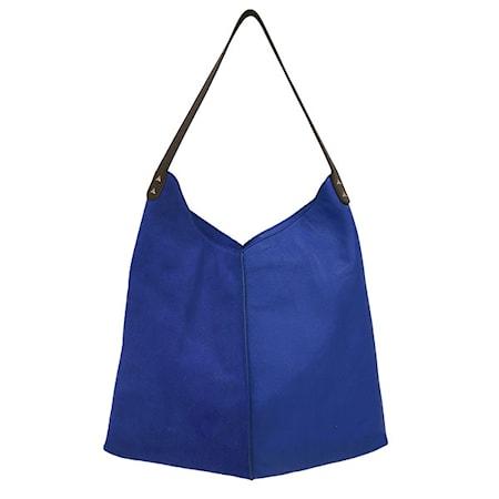 Väska Läder Blå