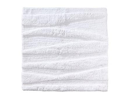 Badrumsmatta White Flow 65x65cm