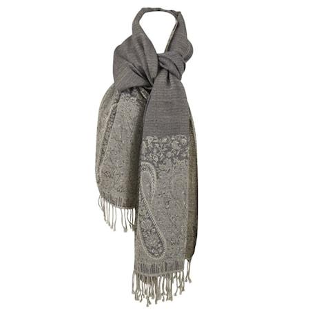 Wool scarf Grå