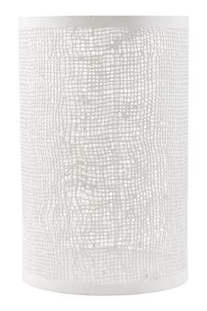 Ljuslykta Ø 12,5x19,5 cm - Vit