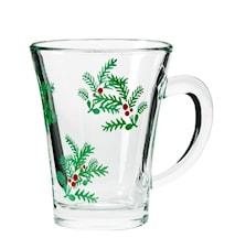 Glögglas Grankvistmönster 4 st