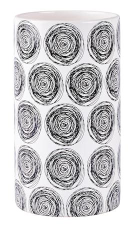 Bilde av KJ Collection Vase men mønster Svart 23 cm