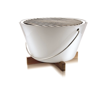 Bordsgrill white Ø30 cm