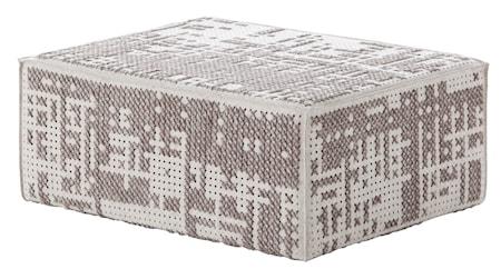 GAN Rugs Canevas Modular Abstract Puff 100x70x42 - silver