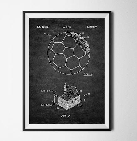 Bilde av Konstgaraget Patent fotball svart poster