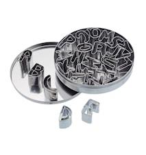 Kakformar 26-pack Alfabet Rostfritt stål