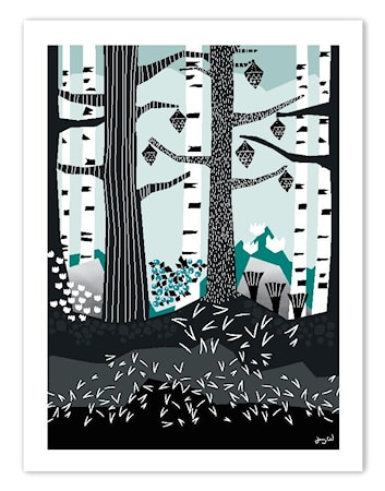 Bilde av Wallmark formstudio The Forest poster