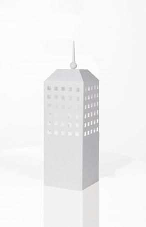 Bilde av Globen Lighting Bordlampe Skyscraper Hvit