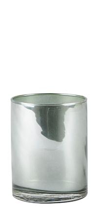 Bilde av KJ Collection Lyslykt Glass/Grønn 7,6x10 cm