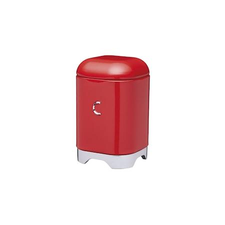 Kitchen Craft Opbevaringsbeholder Stål C Rød 11x11x18 cm