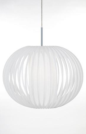 Bilde av Globen Lighting Pendel Plastbånd XL Hvit / Krom