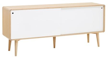 CASØ Furniture CASØ 500 skänk - Vitoljad ek/vita lådor