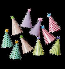 Pappershatt 10-pack Olika mönster