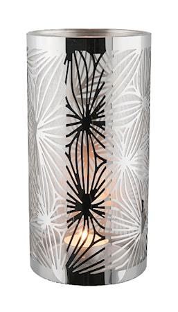Dorre Lykta rostfri med glasrör mönster 20 cm