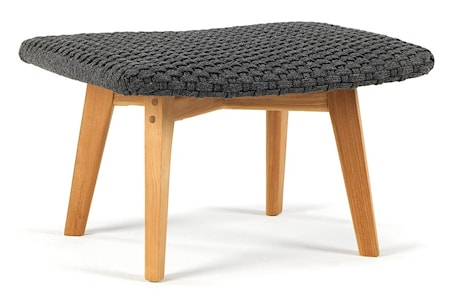Ethimo Knit footstool pall - Teak