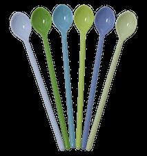 Melaminskedar Långa 6-pack Blå/Grön
