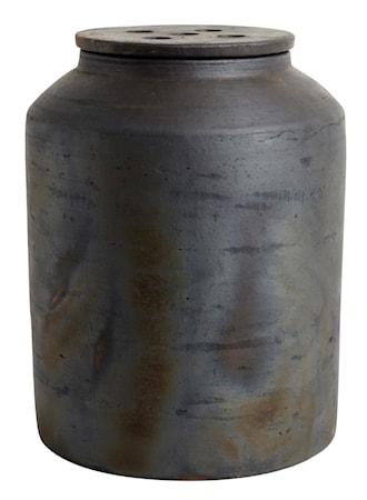 Kruka med lock Hazel Brun Terracotta 31x23cm