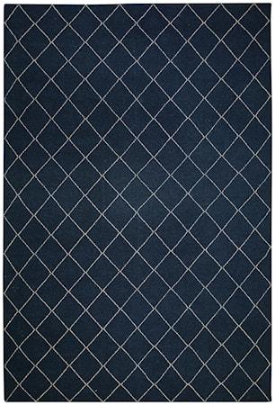 Diamond Dhurry Matta Ull Blue Melange/Off White 184x280 cm