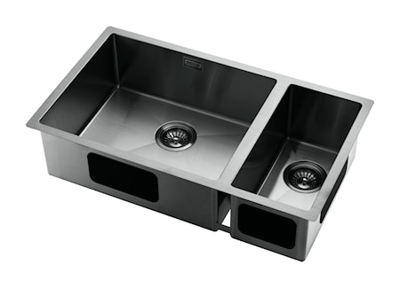 Tapwell Diskho 70x40cm Black Chrome