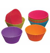 Cupcakeform Silikon 12-pack Mixade färger