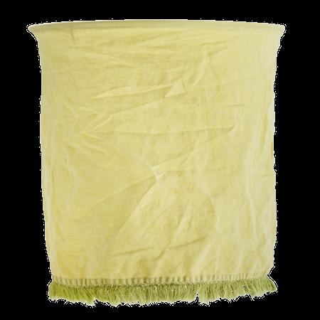Lampskärm Linne+Fransar Citron
