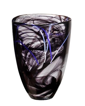 Bilde av Kosta Boda Sontrast Svart Vase H: 200mm
