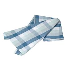 Handduk rutig provenceblå/pärlblå/pärlgrön