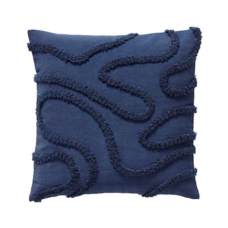 Kudde med Bomullsfyllning Blå 50x50 cm
