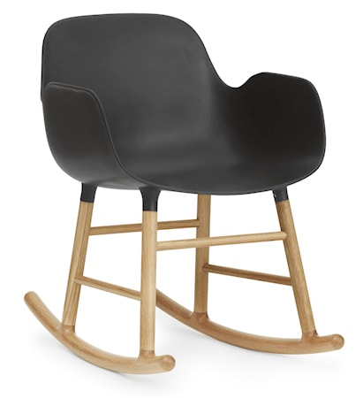 Normann Copenhagen Form rocking chair karmstol ek - Black