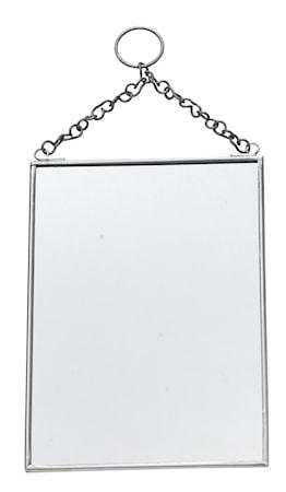 Madam Stoltz Roikkuva Peili 13x18 cm - hopea