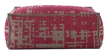 GAN Rugs Canevas Soft Abstract Puff 100x70x42 - rosa